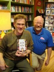 Author David Pratt with Common Language owner Keith Orr